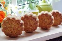 Cách làm bánh Trung thu nướng nhân đậu xanh mứt bí