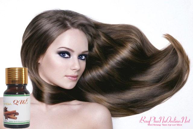 dưỡng tóc bằng tinh dầu quế