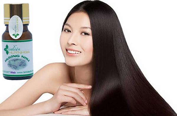trị rụng tóc bằng tinh dầu hương nhu